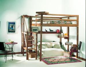 Mezzanine en bois mod les et prix ooreka - Fabriquer un lit mezzanine 2 places ...