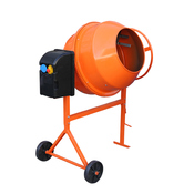 Mini betonniere orange fond blanc