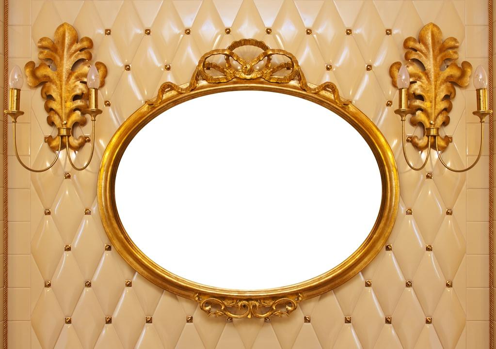 Couleur peinture or avec des id es for Miroir horizontal salon