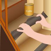 Pose coll e de moquette dans un escalier avec profil pour nez de marche es - Poser moquette sur moquette ...