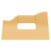 Cale en bois ou en plastique (aussi appelée maroufleur de tapissier)