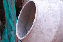 Cuve de betonniere de profil