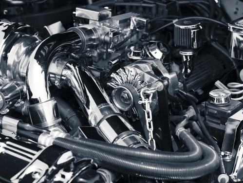Le moteur d'une voiture