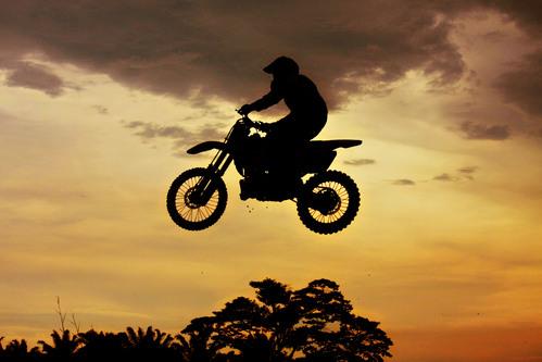 Une moto-cross