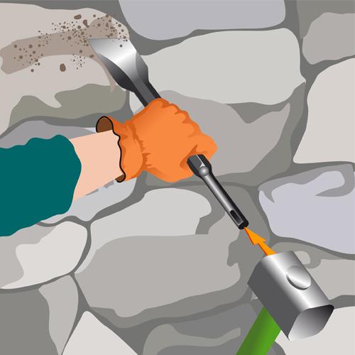 Réparer une pierre de taille