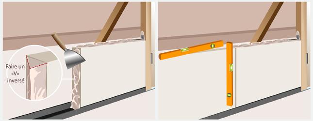 Monter une cloison en carreaux de pl tre mur for Huisserie fenetre