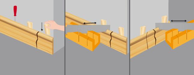 Changer une portion de plinthe mur - Boite a onglet pour plinthe ...