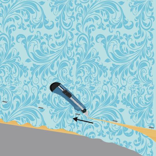 poser du tissu mural ooreka. Black Bedroom Furniture Sets. Home Design Ideas