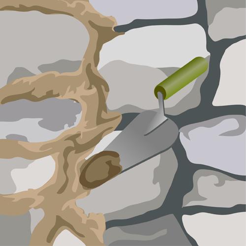 Rejointoyer un mur en pierre