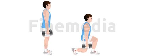 Musculation fessiers et fente avant