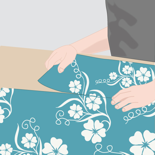 pose de papier peint intisse avec raccord