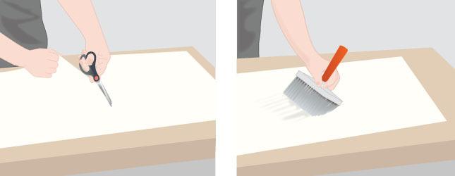 poser du papier peint au plafond - papier peint