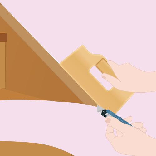tapisser un escalier papier peint. Black Bedroom Furniture Sets. Home Design Ideas