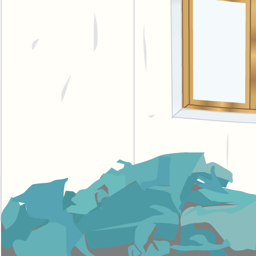Pr parer le support tapisser mur ou plafond papier peint for Image murale a tapisser