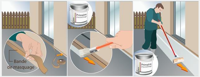 peindre le sol d'un balcon ou d'une terrasse - terrasse - Primaire D Accrochage Peinture Plafond
