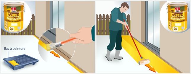 Peindre le sol d 39 un balcon ou d 39 une terrasse terrasse for Peinture pour balcon exterieur