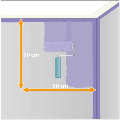 peindre au rouleau peinture. Black Bedroom Furniture Sets. Home Design Ideas