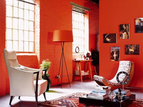 Peinture de cuisine peinture de cuisines - Peinture orange cuisine ...