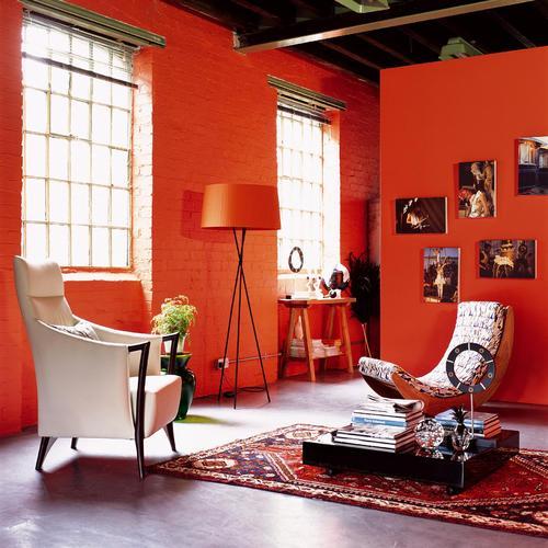 Peinture acrylique orange