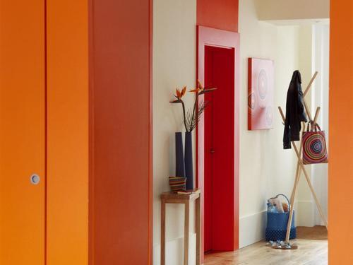 Chambre Orange Et Rouge : Photo Decoration : Peinture acrylique orange et rouge