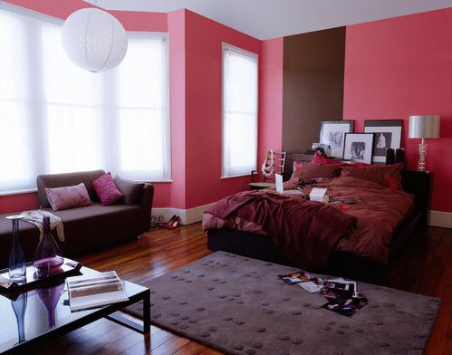 photo decoration peinture alkyde rouge et marron. Black Bedroom Furniture Sets. Home Design Ideas