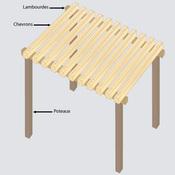 construire une pergola en bois pergola. Black Bedroom Furniture Sets. Home Design Ideas
