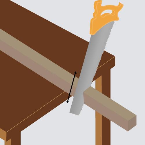 Découpez le bois