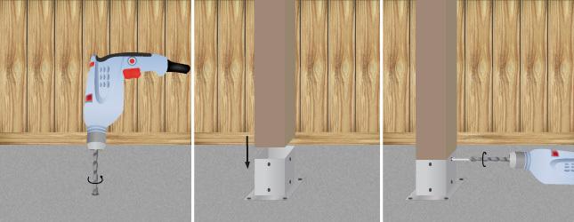 Construire une pergola en bois pergola for Comment fixer une cheville