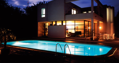 photo decoration piscine ext rieure nuit. Black Bedroom Furniture Sets. Home Design Ideas