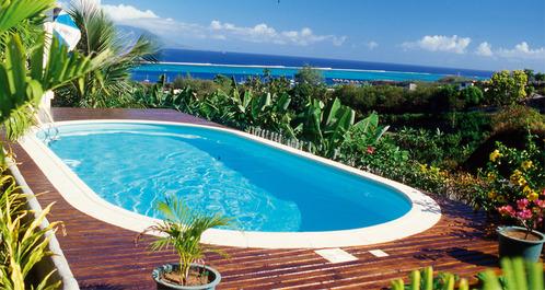 déco terrasse piscine bois