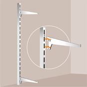 Fixer une tag re sur cr maill re placard rangement - Comment fixer etagere murale fixation invisible ...