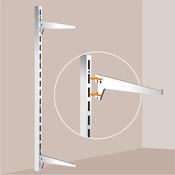 Fixer une tag re sur cr maill re placard rangement - Comment fixer une etagere ...
