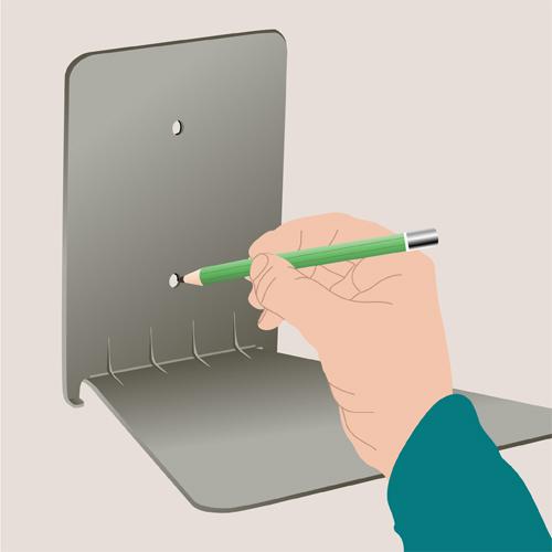 Installer une étagère invisible
