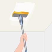 nettoyer un plafond jauni plafond