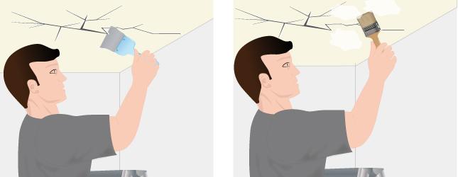Élargissez la fissure du plafond