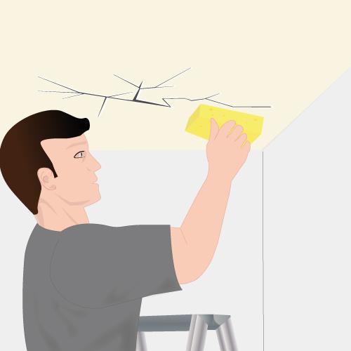 r parer un plafond fissur plafond. Black Bedroom Furniture Sets. Home Design Ideas