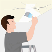 Réparer un plafond fissuré