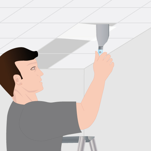 Retirer des dalles d coratives d 39 un plafond plafond for Dalles de plafond