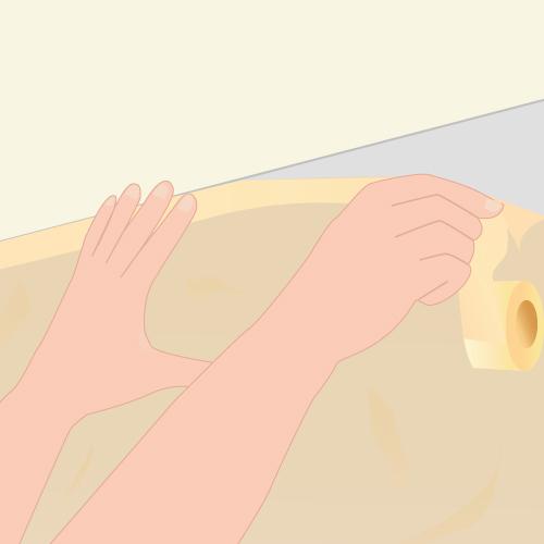 Enlever la moisissure au plafond plafond - Reboucher fissure plafond ...