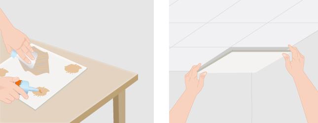 Changer une dalle de faux plafond plafond - Faux plafond polystyrene ...