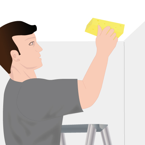 Nettoyez la partie du plafond concernée