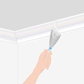 poser une corniche au plafond plafond. Black Bedroom Furniture Sets. Home Design Ideas