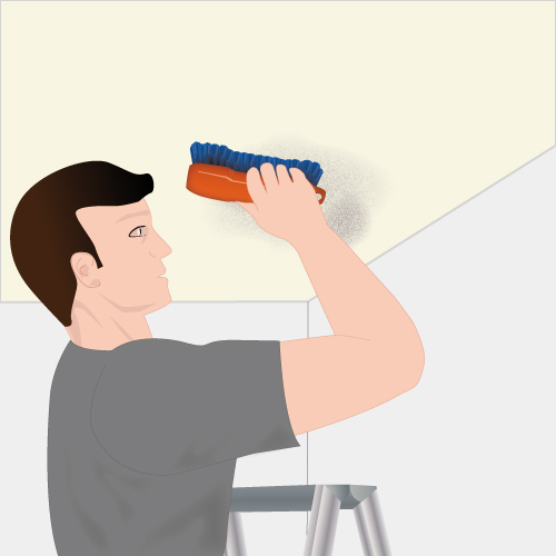 Enlever la moisissure au plafond plafond for Enlever humidite salle de bain