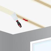 Jointoyer les plaques de plâtre d'un plafond
