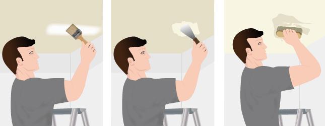 Décapez le plafond avec un décapant chimique
