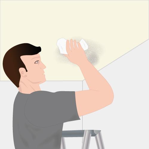 Enlever la moisissure au plafond plafond - Moisissure javel ...