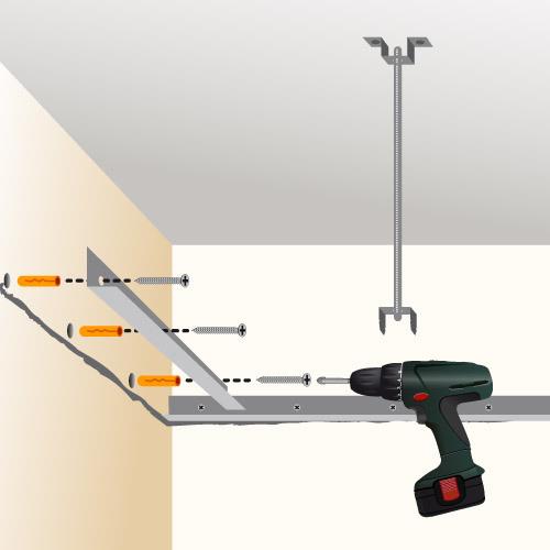 Poser un faux plafond en plaques de pl tre plafond for Comment faire un plafond suspendu