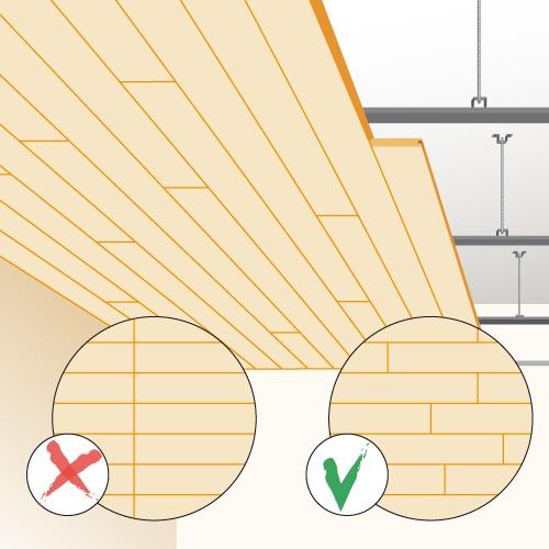 poser un faux plafond en lambris plafond. Black Bedroom Furniture Sets. Home Design Ideas