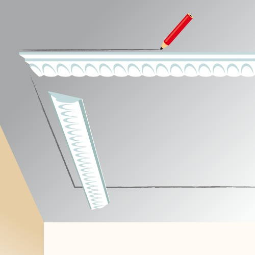 Poser des moulures au plafond plafond for Pose fibre de verre au plafond