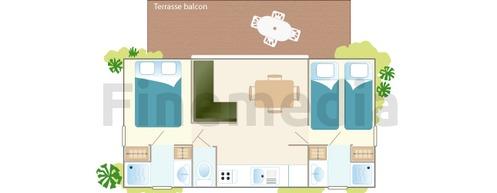 Plan de mobil home avec terrasse